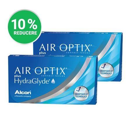 Imagine Promo: 2 x AIR OPTIX Plus HydraGlyde (6 lentile)
