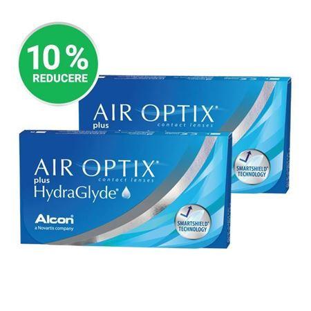 Imagine Promo: 2 x AIR OPTIX Plus HydraGlyde (3 lentile)